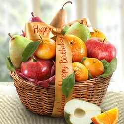 Happy Birthday Wishes: Fruit Gift Basket