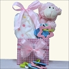 Happy Easter: Little Lamb Baby Girl Easter Gift Basket