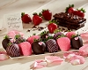 Happy Valentine's Day Chocolate Dipped Strawberries