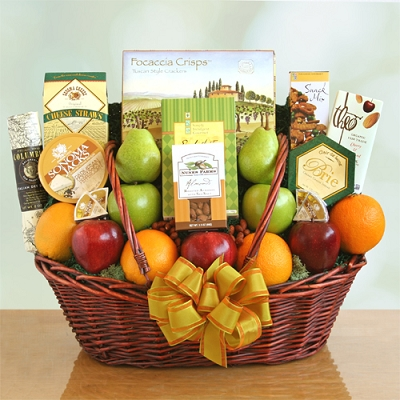 Healthy Wishes: Fruit Gift Basket