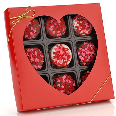 Heart Sprinkles Chocolate Dipped Oreos® Gift Box