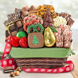 Holiday Bliss Chocolate Christmas Gift Basket