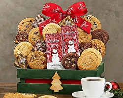 Holiday Brownies, Cookies and Coffee Gift Basket