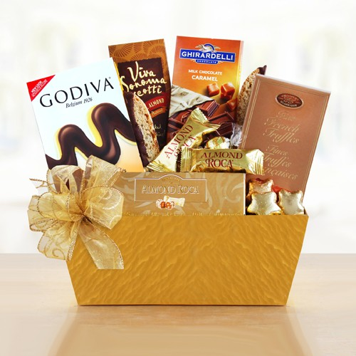 Holiday Elegance Gourmet Chocolate Gift Basket