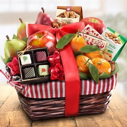 Fruit and Gourmet Holiday Treasures Gift Basket