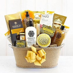 Luxurious Honey & Chamomile Spa Gift Basket