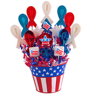 July 4th Lollipop Candy Bouquet