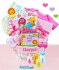 Jungle Friends Baby Girl Gift Basket