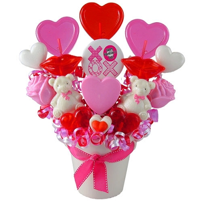 Kisses and Hugs XOXO Candy Bouquet