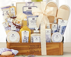 Deluxe Lavender Spa Experience Gift Basket