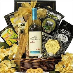 Little Black Dress Red or White Wine Gift Basket