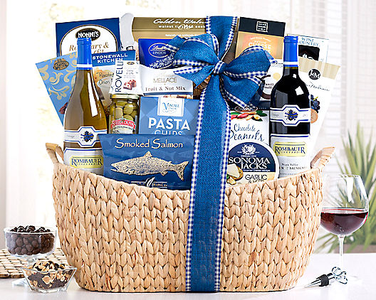 Luxury Cabernet and Chardonnay Gift Basket