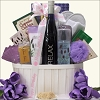 Luxury Wine And Spa Birthday Gift Basket