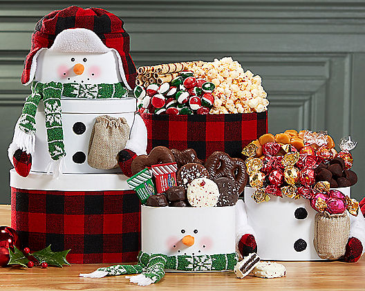 Magic Holiday Snowman Gift Tower
