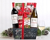 Merry Christmas Wine Duet Gift Basket