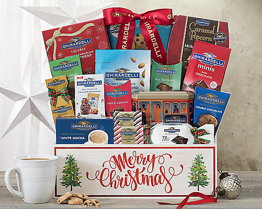 Merry Christmas! Ghirardelli Holiday Delight Basket