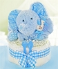 Minky Elephant One Tier Diaper Cake For Boy
