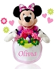 Personalized Minnie Baby Basket Of Love