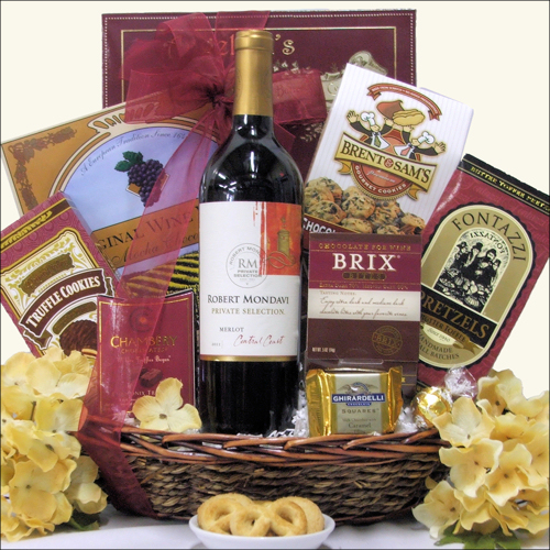 Mondavi Chocolate and Wine Gift Basket