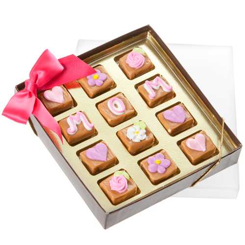 Mother's Day Caramel Gift Box of 12