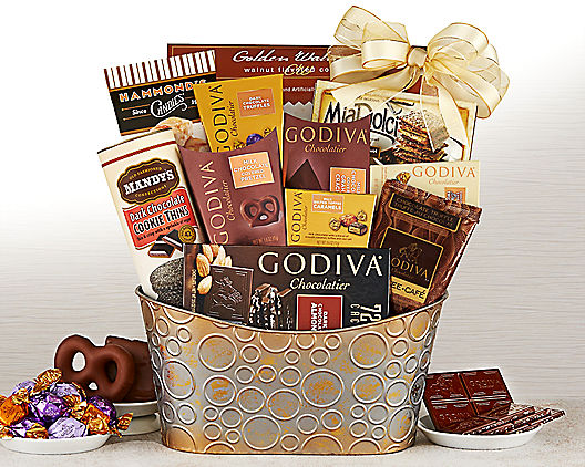 Godiva Chocolate and Sweets Gift Basket For Mom