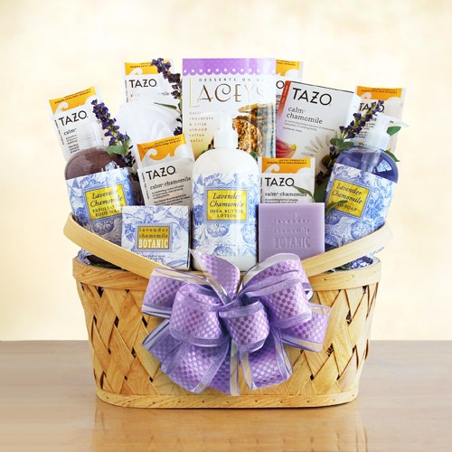 Lavender Spa and Tea Gift Basket