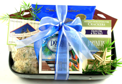 Nautical Seaside Delights Gourmet Gift Basket