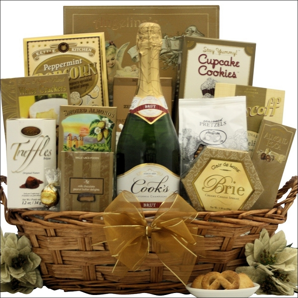 New Year's Celebration & Choices Champagne Gift Basket