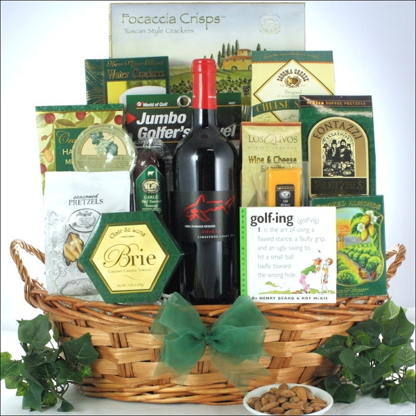 Norman Estates Golf & Wine Gift Basket