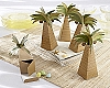 Palm Tree: Beach Wedding Favor Gift Box- Set of 24