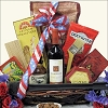 Patriotic BBQ Themed Wine Gift Basket
