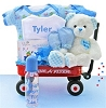 Personalized Deluxe Baby Boy Welcome Wagon