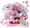 Personalized Welcome Baby Girl Gift Basket
