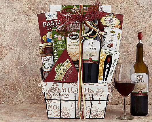 Night In Venice: Pinot Grigio Wine Gift Baskets
