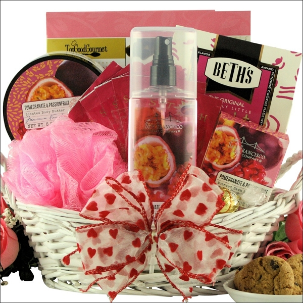 Passion Fruit & Pomegranate Spa Valentine Gift Basket