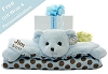 Posh Dots Teddy Bear Baby Blanket Personalized