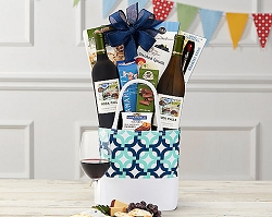 Red and White Duet Wine Gift Basket