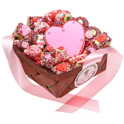 Romantic Gourmet Cookies Gift Basket