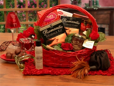 Romantic Massage Romance Gift Basket