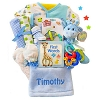 Safari Friend First Words: Boy Baby Gift Basket