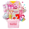 Safari Friend PeekABoo: Girl Baby Gift Basket