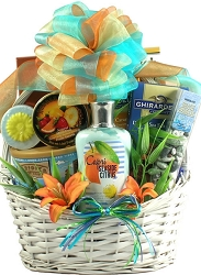 Tropical Seaside Gourmet & Spa Nautical Gift Basket