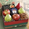 Seasonal Fruit And Cheese Gift Basket
