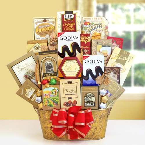 Golden Seasons Gourmet Holiday Gift Basket