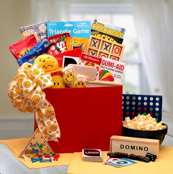 Smiley Face Get Well Gift Basket