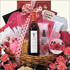 Romantic Valentine's Day Sweets & Wine Gift Basket