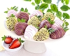 Spring Chocolate Dipped Strawberries: Dozen