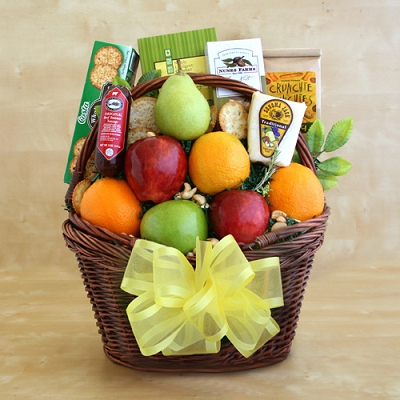 Greetings Fruit Gift Basket