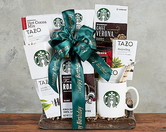 Starbucks Happy Birthday Coffee Collection Gift Basket