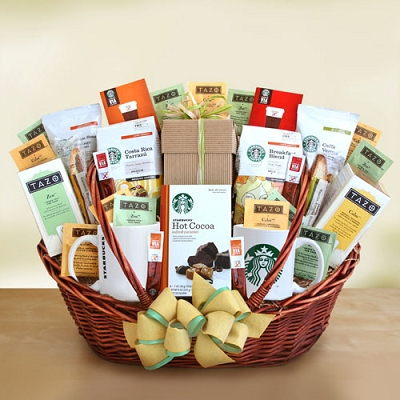 Starbucks Welcome Wishes: Tea & Coffee Gift Basket